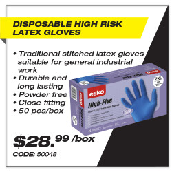 Disposable High Risk Latex Gloves