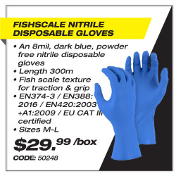 Leadsafe - Fishscale Nitrile Disposable Gloves