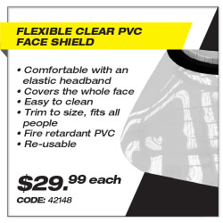 Leadsafe - Flexible Clear PVC Face Shield
