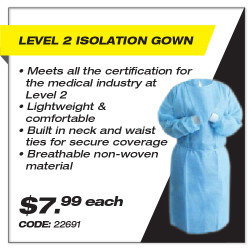 Leadsafe - Level 2 Isolation Gown
