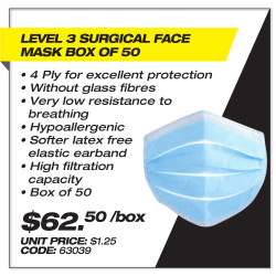 Leadsafe - Level 3 Surgical Face Mask