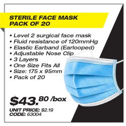 Leadsafe - Sterile Face Mask Pack of 20