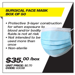 Leadsafe - Surgical Face Mask Box 50