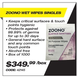 Leadsafe - Zoono Wet Wipes Singles